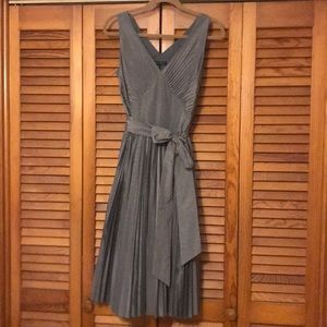 Vintage inspired silver pleated dress